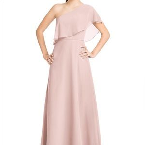 Azazie Lizzy Blush Pink Bridesmaid Dress